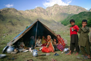 A Gujar Family at their Campsite