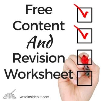 Free ContentRevisionWorksheet