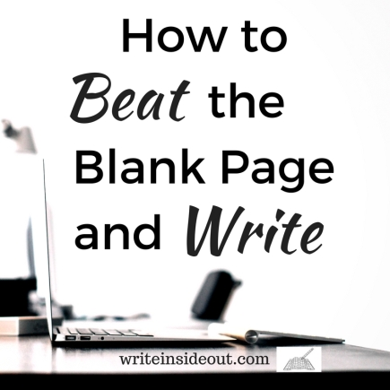 how to beat the blank page and write