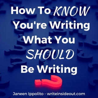 How To Know If What You're Writing is What You SHOULD Be Writing